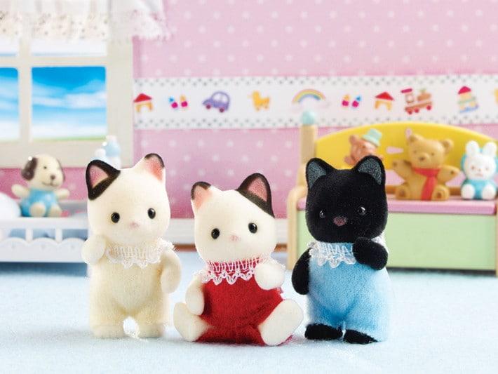 Tuxedo Cat Triplets - 6