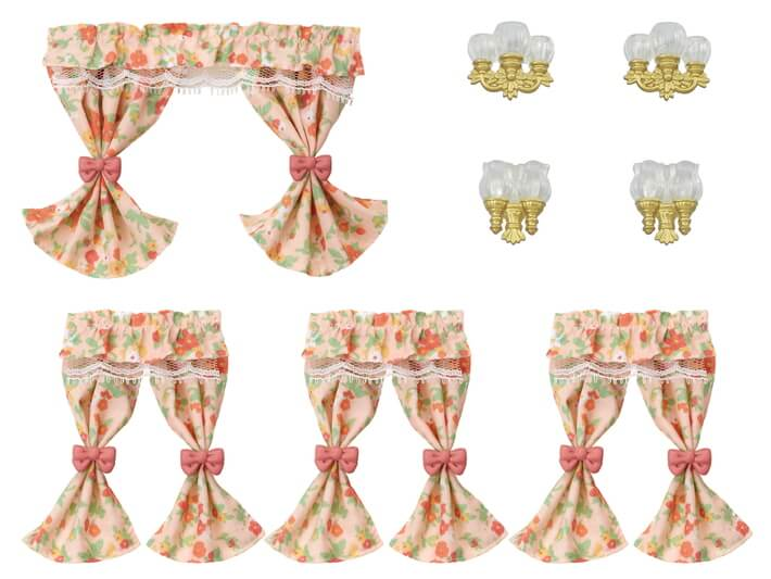 Wall Lamps & Curtains Set - 5